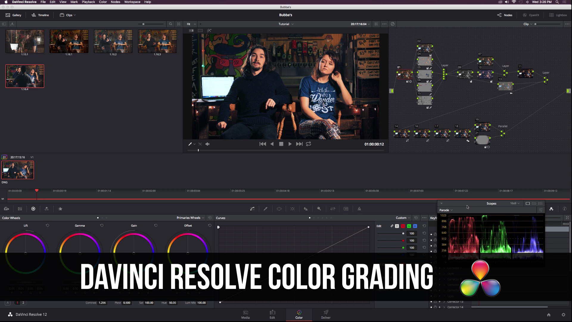 DaVinci Resolve 12 Advanced Color Grading