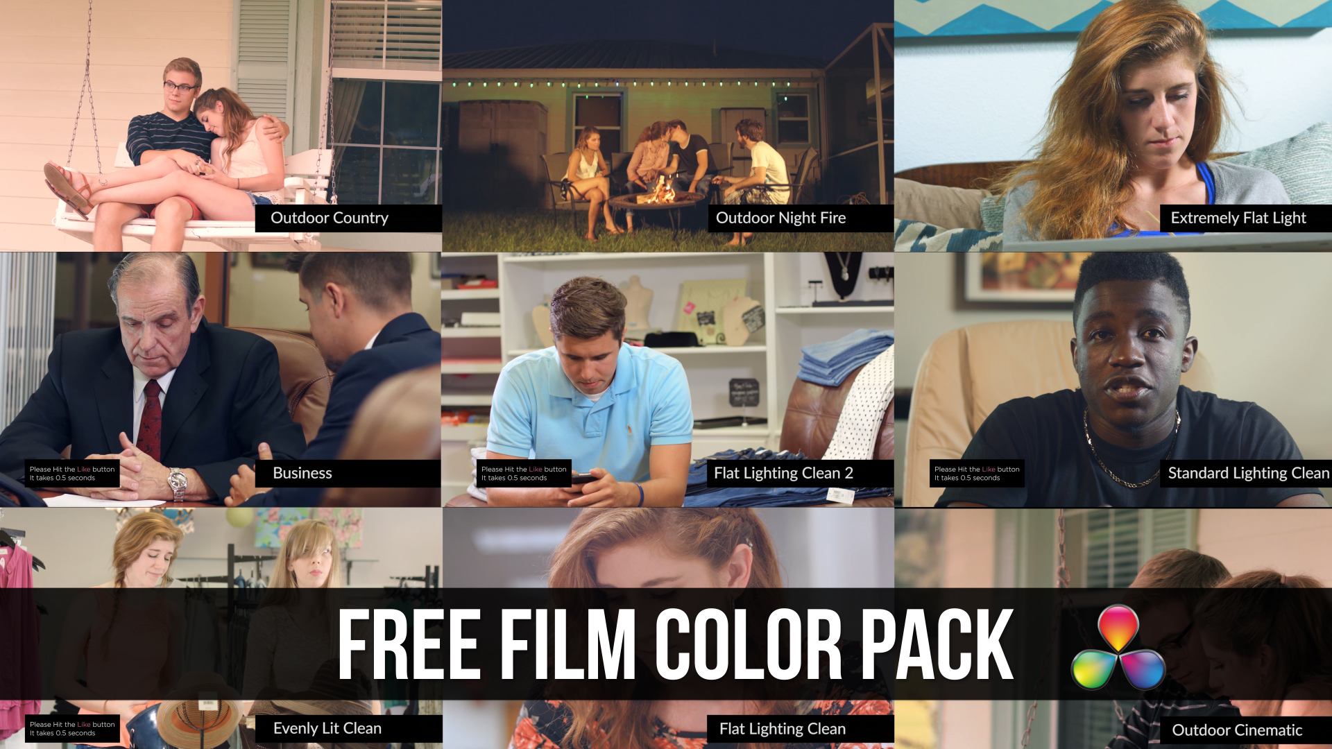 Free Davinci resolve pack