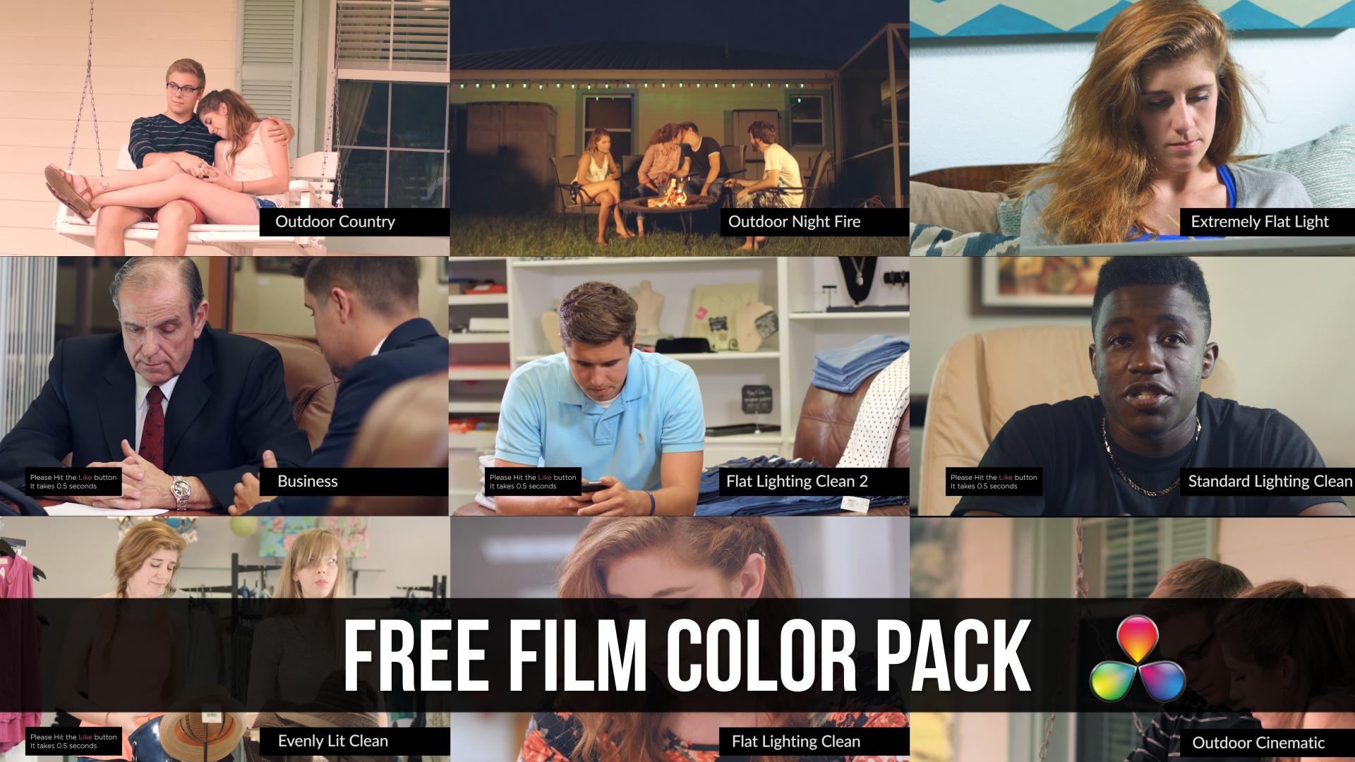 Free Davinci resolve pack