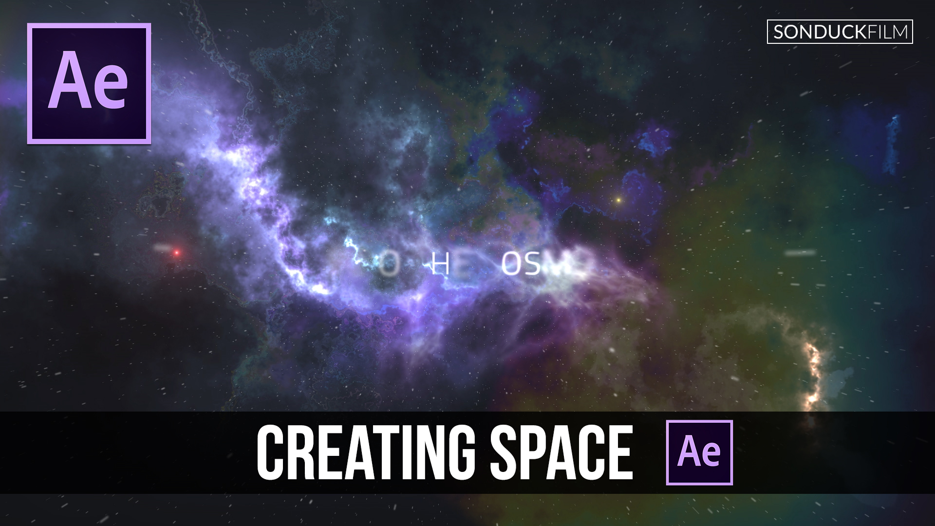 After effects tutorial creating a space intro or scene for Space created