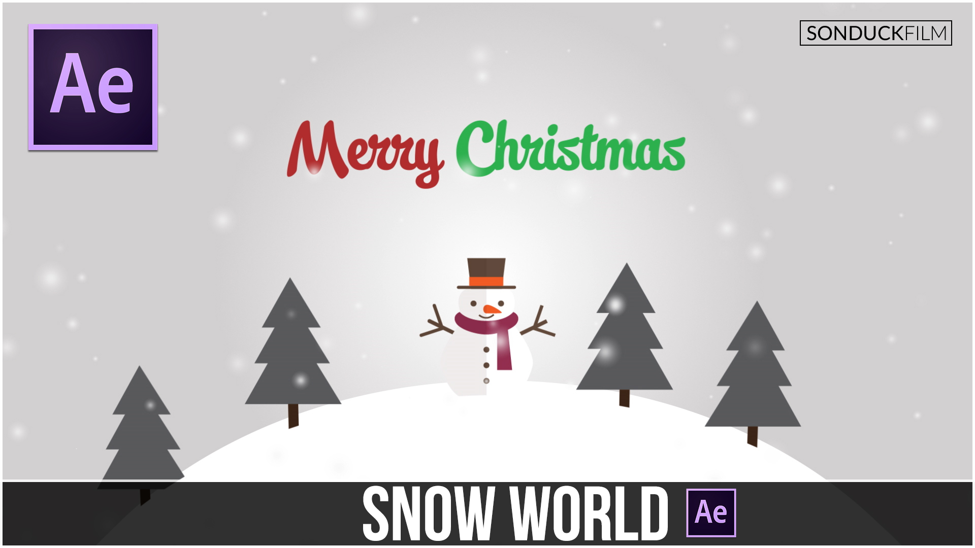 After-Effects-Tutorial-3D-Snow-World-Animation