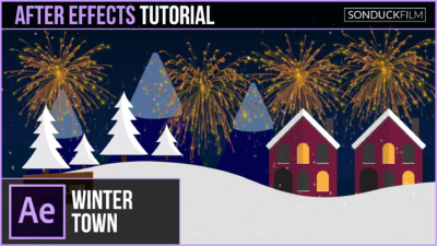 After-Effects-Tutorial-Christmas-Town-Animation