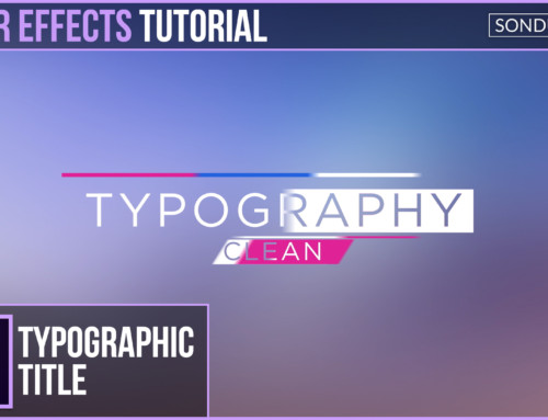 After Effects: Clean Typography Title Motion Graphics
