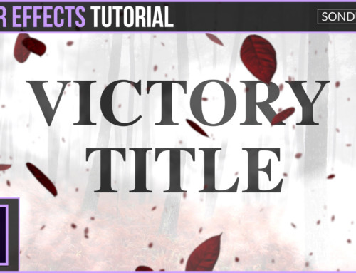 After Effects: Victory Particle Title Animation