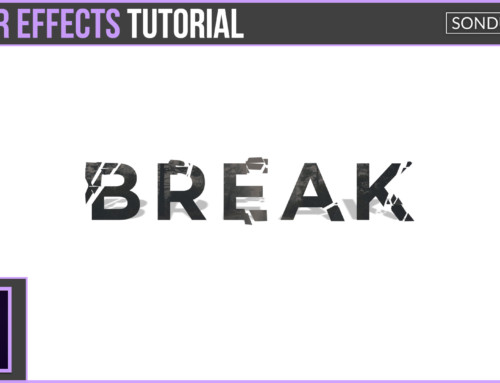 After Effects: Break Up Text