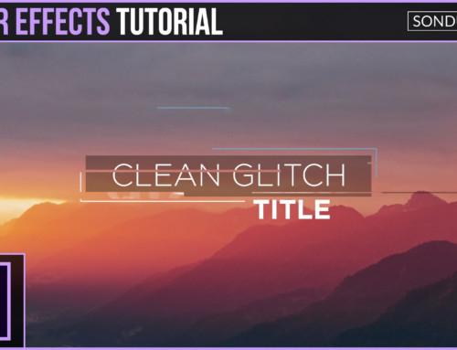 After Effects: Clean Glitch Titles