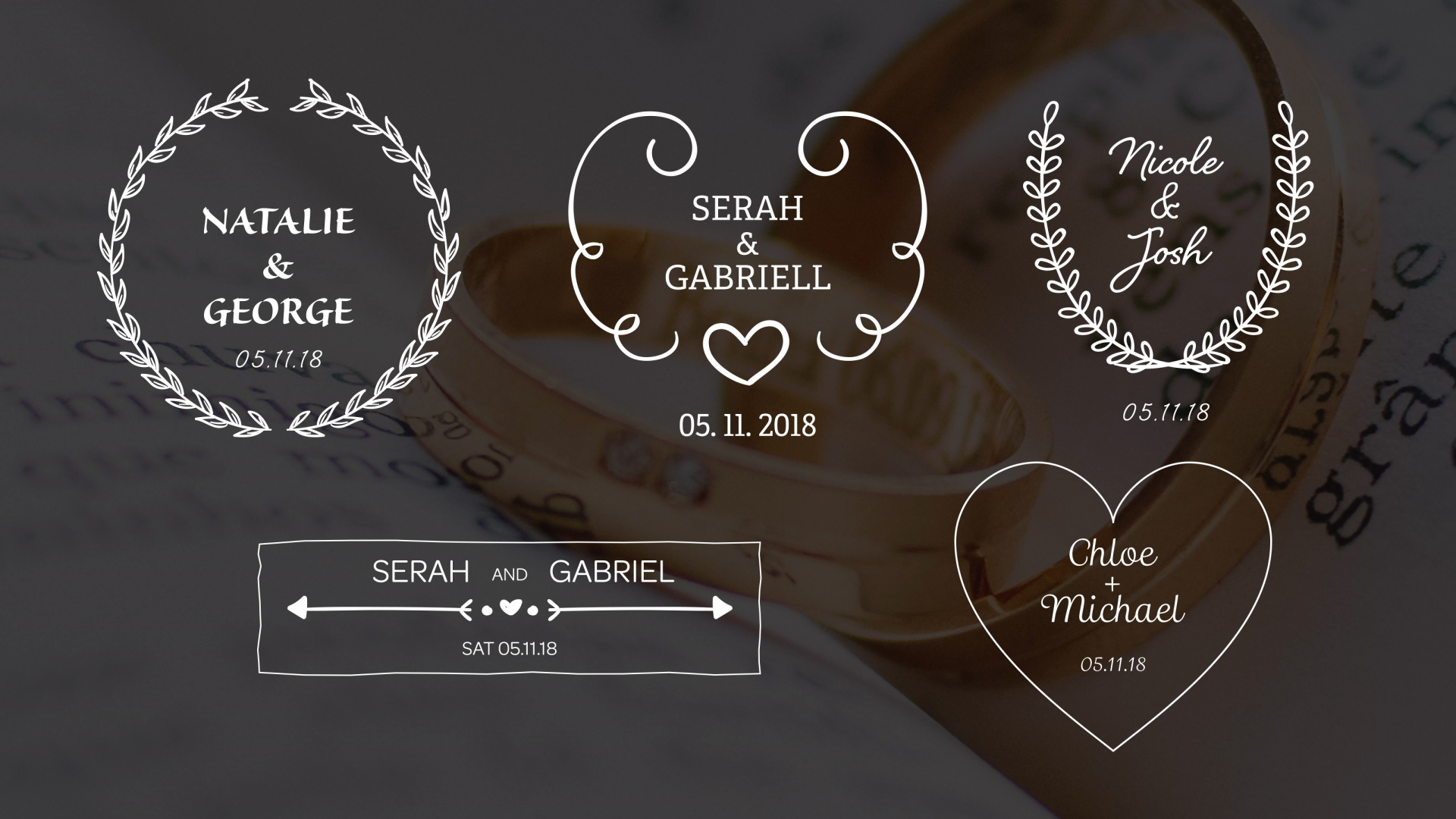 5 wedding titles for premiere pro amp after effects