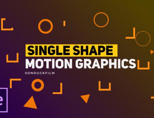 3 Single Shapes Motion Graphic Techniques
