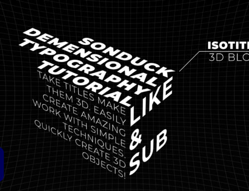 Create Isometric 3D Typography Motion Design in After Effects