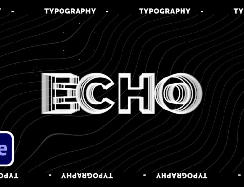 3 Echo Effect Creative Typography Techniques