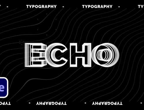 3 Echo Effect Creative Typography Techniques
