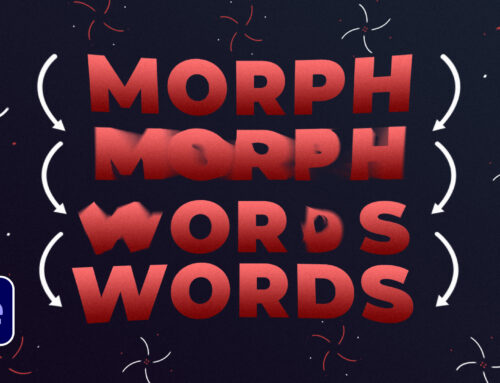 Morph Words Into Words & Shapes in After Effects