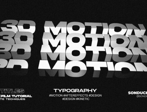 3 Seamless 3D Kinetic Typography Titles in After Effects